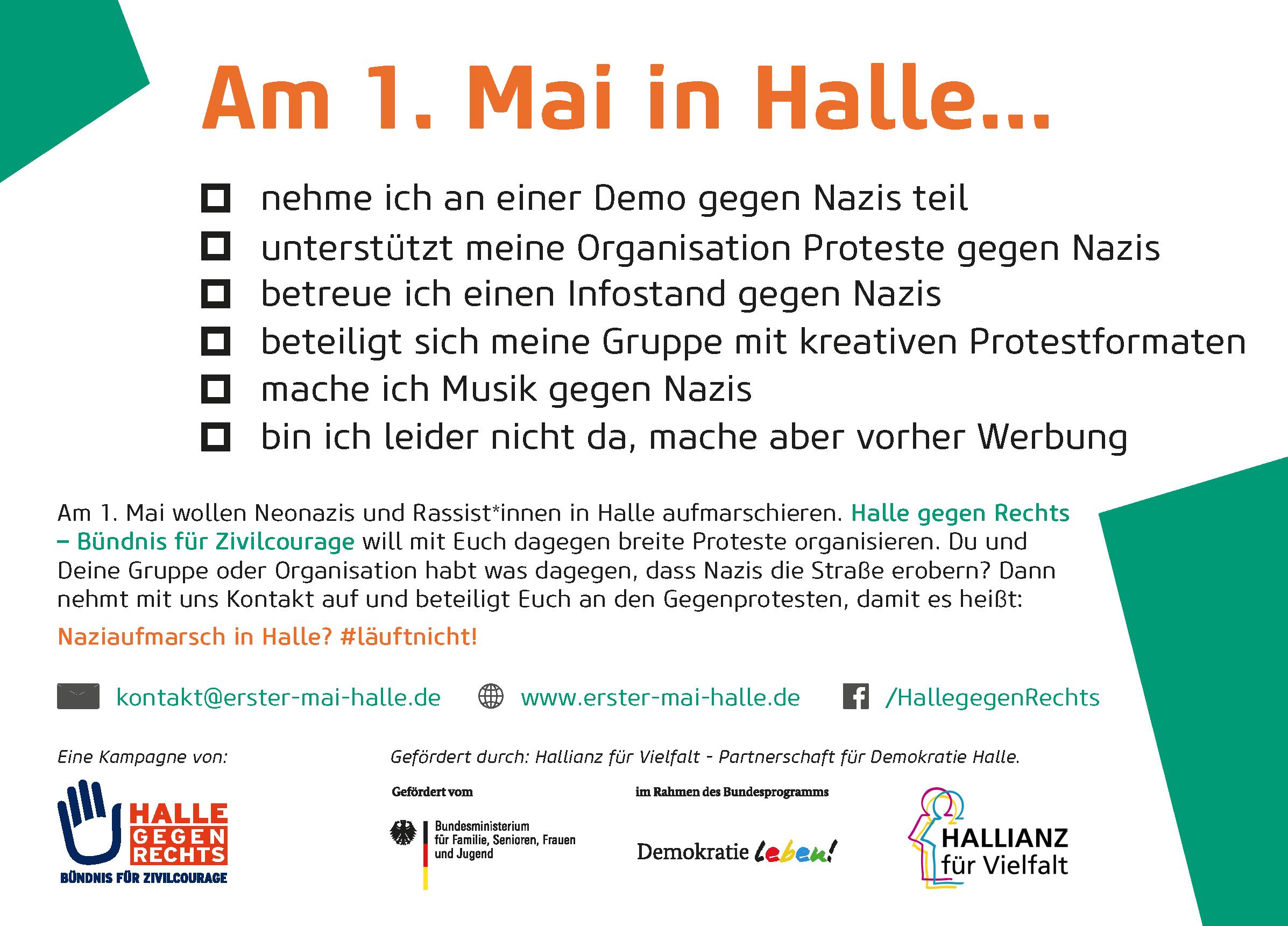 Kampagnenpostkarte Vernetzung - Rückseite